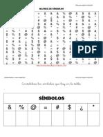 Matriz de Simbolos Mediana 1