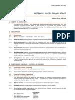 Codex Alimentarius Para Arroz