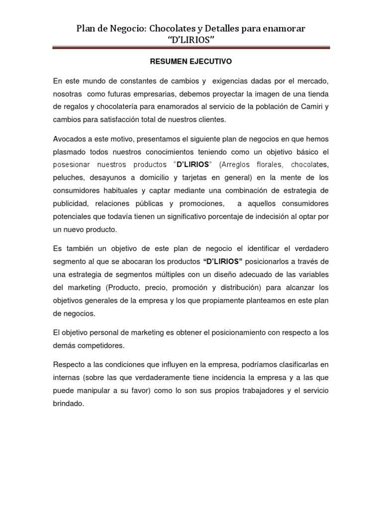 Charming Formato De Resumen Ejecutivo De Proyecto Ideas - Entry ...