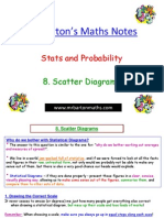 8. Scatter Diagrams WITH GRATEFUL THANKS TO MR BARTON