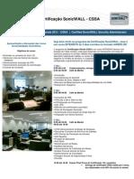 SonicWALL Programa de Certificação CSSA 2011