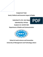 Role of Radio About Political Knowledge