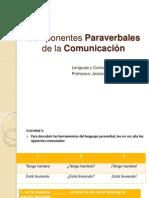 Componentes Paraverbales de la Comunicación 1 B
