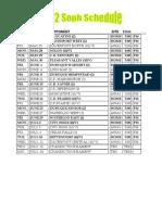 2012 Soph Game Schedule