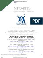 Byte Back's Online Newsletter, September 2011