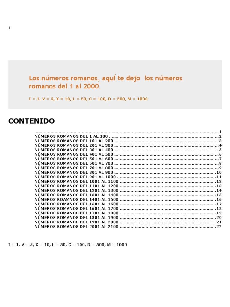 25403796 Los Numeros Romanos Del 1 Al 2000