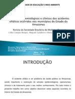 Aspectos epidemiológicos e clínicos dos acidentes ofídicos ocorridos