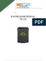 Rastreador manual de instrução tk-102