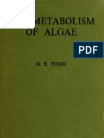 Foog, GE the Metabolism of Algae (1953) Book