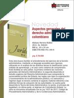 Aspectos generales del derecho administrativo colombiano 3a. Ed