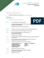 Horario del 15 Congreso Regional del PP de Madrid