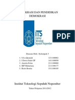 Demokrasi Dan Pendidikan Demokrasi (1)