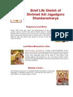 Aadi Shankaracharya - Life History