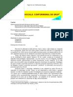 Curs IV - Conformismul de Grup