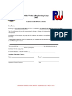 Final Application Forms for Camp 2012