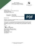 Holy Cross Children's Services-Grand Rapids, Michigan Foster Care Investigation Report