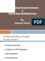Understanding Of Legal Environment & Federal Equal Employment Laws