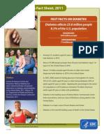 National Diabetes Fact Sheet, 2011