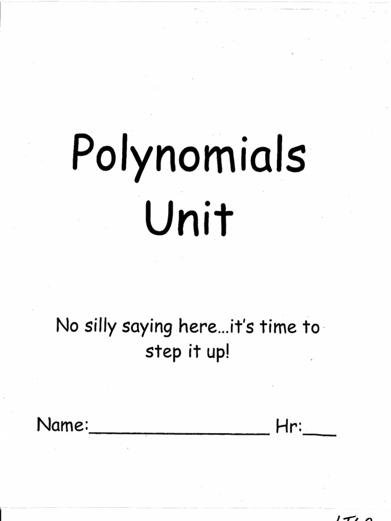 Polynomials unit packet robcynllc Choice Image