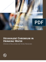 Hexavalent Chromium in Drinking Water