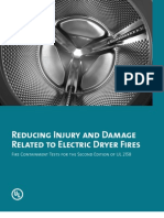 Reducing Injury and Damage Related to Electric Dryer Fires