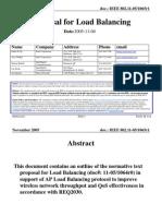 11 05 1065-01-000v Proposal Load Balancing