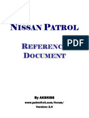 Nissan Patrol ZD30 Y61 Reference Document - Colour