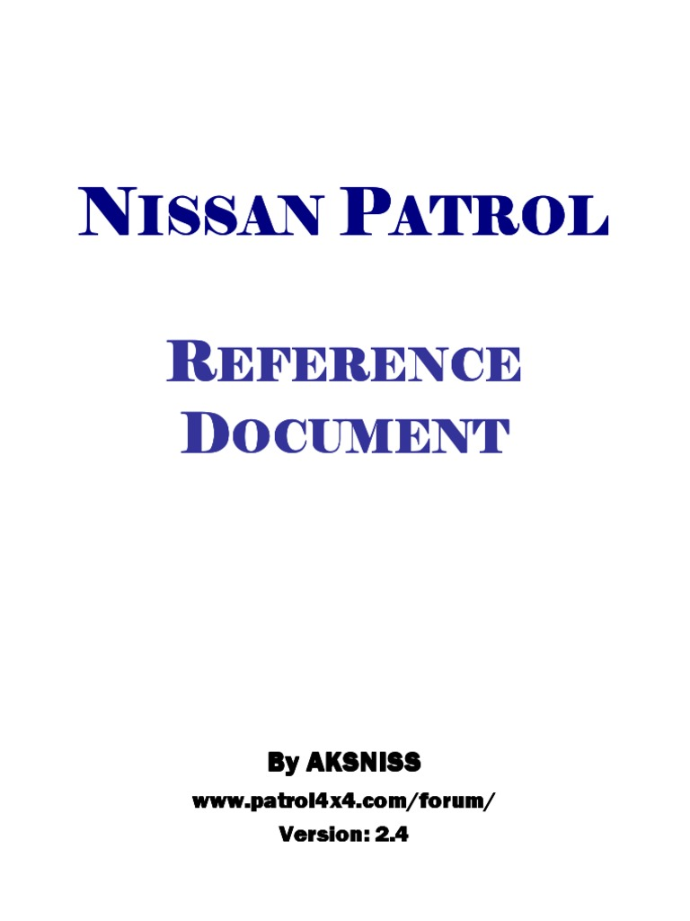 Nissan patrol zd30 y61 reference document colour turbocharger tire asfbconference2016 Gallery
