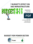 Current Budget's Effect on Power and Infrastructure