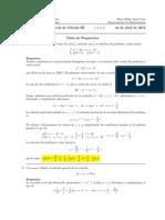 Primer Parcial Cálculo III, 24 de abril de 2012