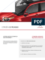 CITROEN C3 Picasso Notice Mode Emploi Guide Manuel
