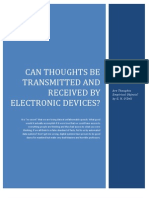 Can Thoughts Be Transmitted and Received by Electronic Devices