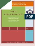 RESUMEN PARTO PSICOPROFILACTICO