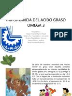 Import an CIA Del Acido Graso Omega 3