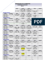 Engenharia de Alimentos - Horario de Aulas - 2012 -1[1]