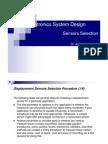 Sensors Selection Ppt