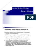 Sensors Selection Ppt