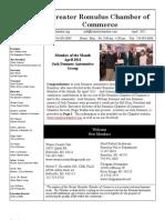 Greater Romulus Chamber of Commerce April_2012_Newsletter