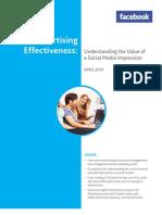 Nielsen Facebook Value of Social Media Impressions