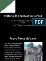 Histórico da Educação de Surdos e da LIBRAS