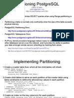 Postgresql Partitioning Short