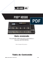 POD HD500 Advanced Guide - Spanish ( Rev B )
