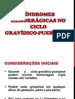 AULA 15 - SÍNDROMES HEMORRÁGICAS NO CICLO