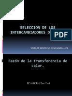 EXPOSICION-SELECCIÓN DE LOS INTERCAMBIADORES DE CALOR