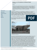 Larry Shiner, Architecture vs Art