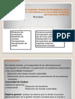 Descentralización gestión Municipio