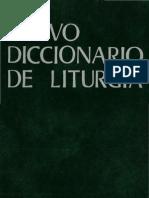 Nuevo Diccionario de Liturgia (I)