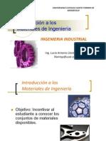Unidad I Introduccion a La Tecnologia de Materiales