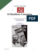 ManifiestoComunista Marx en Gels Prologado Explicado Anotado Glosado GomezCrespo 04nov2009