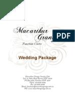 Wedding Package 2012